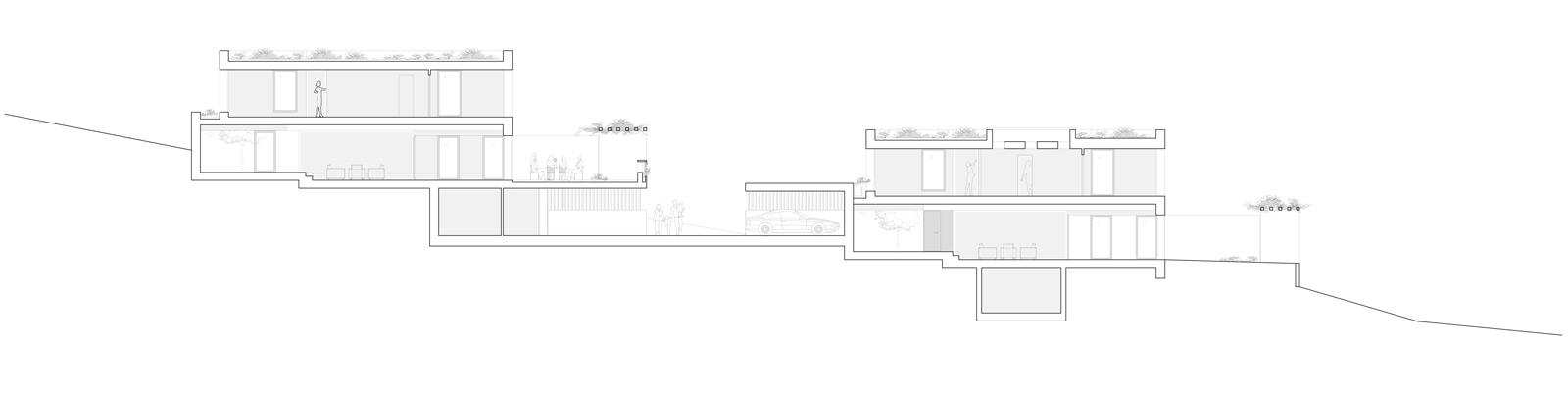 Vue de coupe Corminboeuf Projet Immobilier
