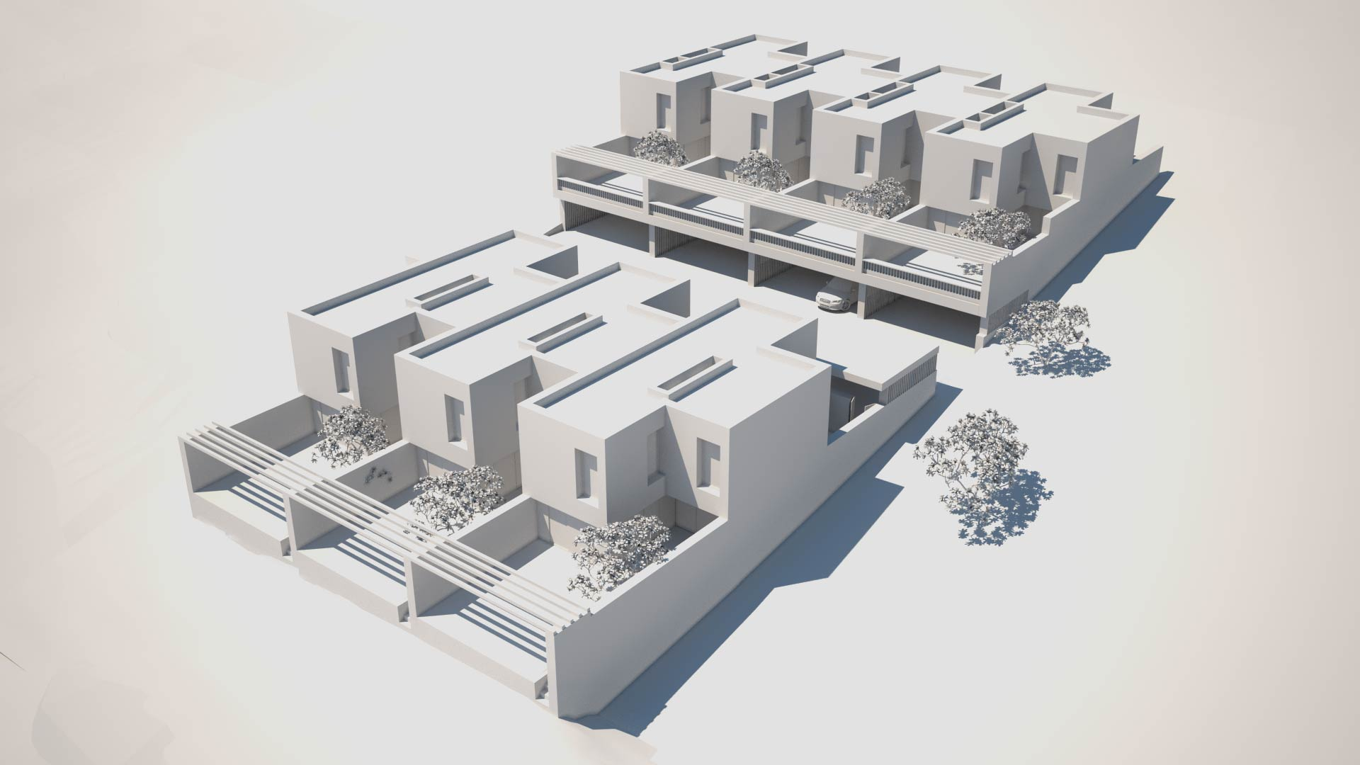 Vue les villas patios Corminboeuf